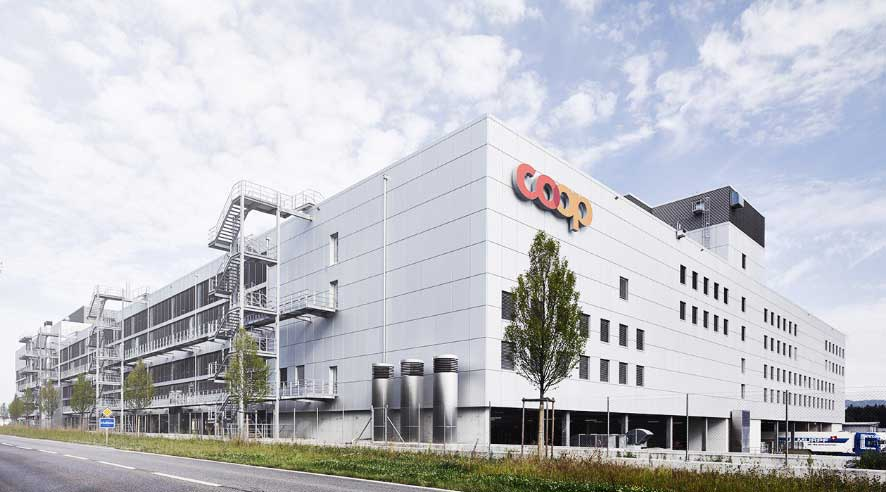 Aussenansicht Logistik- und Prozessplanung inklusive Logistikzentrum, Coop Bäckerei, Schafisheim Teaser IE Food Großbäckerei